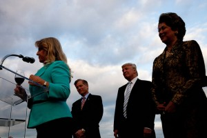 First lady Maureen McDonnell, Gov. Bob McDonnell, Donald Trump, and Patricia Kluge.